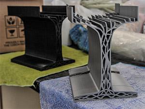 Vigas impresas en 3D inspiradas en las piezas de Lego y en el cuerpo humano
